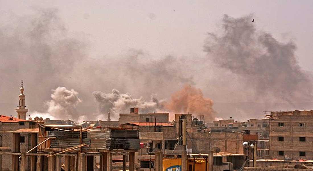 Syrie: bombardements intenses sur le dernier réduit de l'EI à Damas (OSDH)