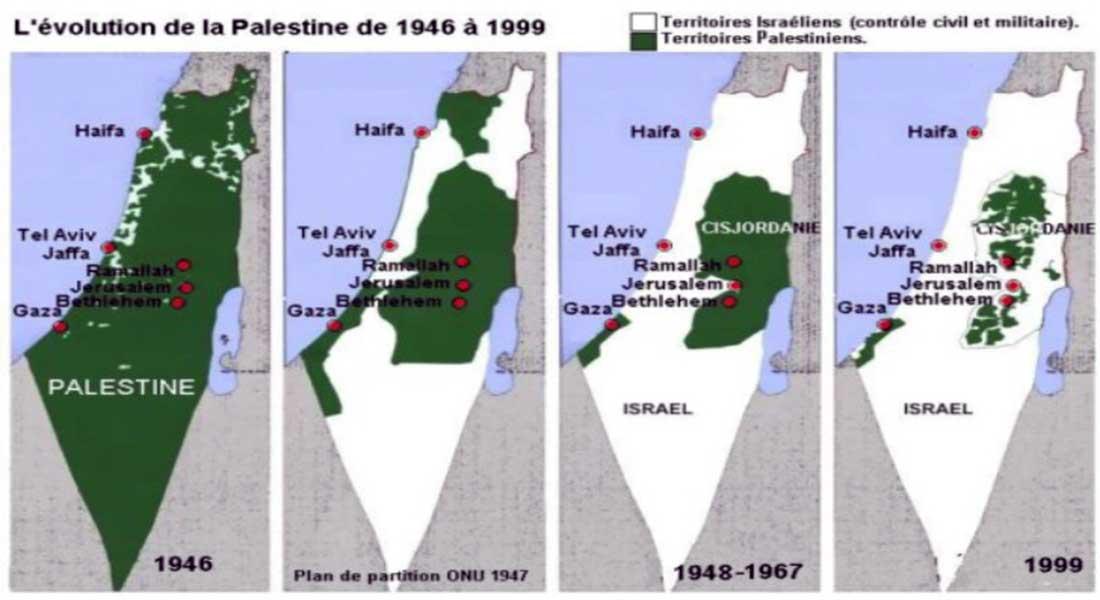 carte palestine 1948