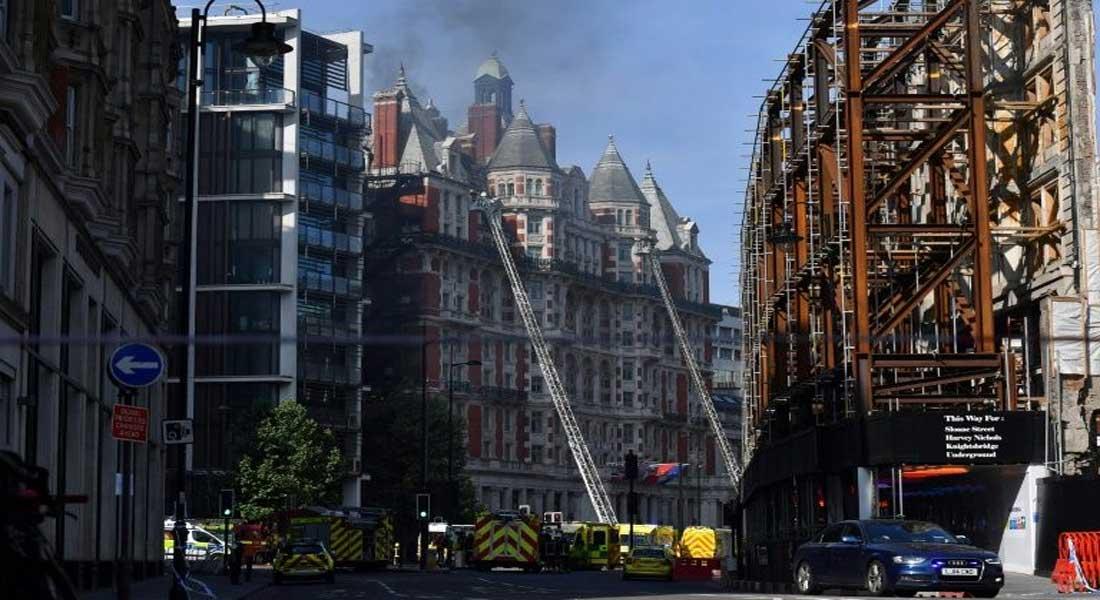 Londres : Incendie dans un hôtel cinq étoiles proche de Harrods