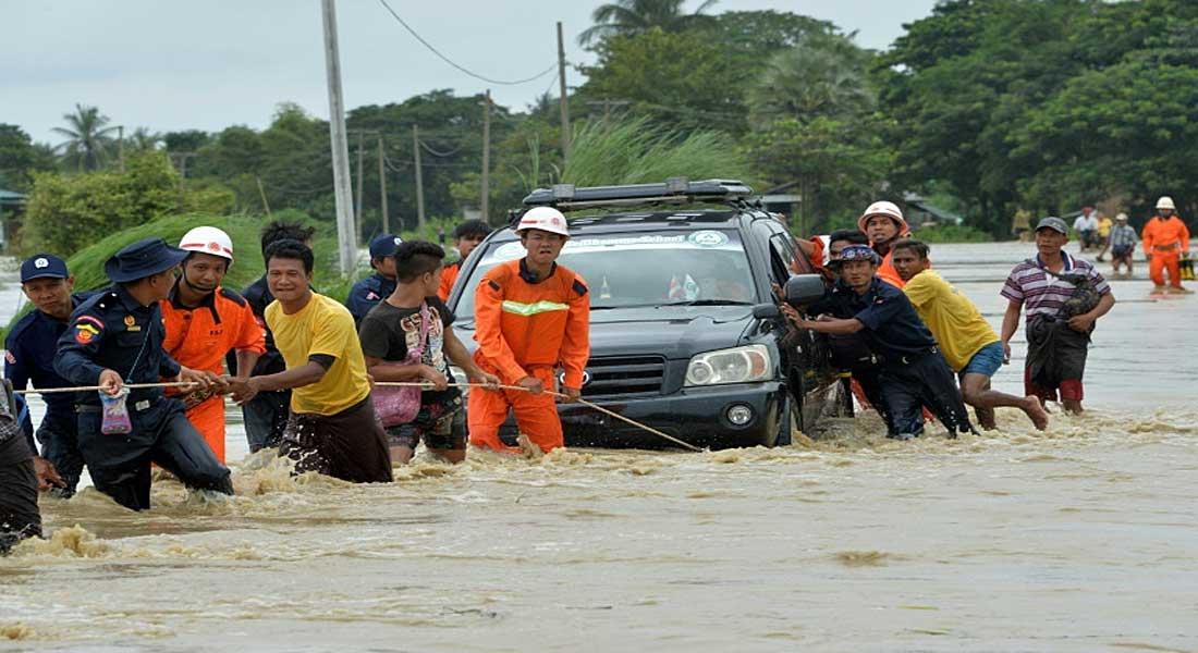 Birmanie : Des milliers d'habitants piégés dans leur maison après la rupture d'un barrage
