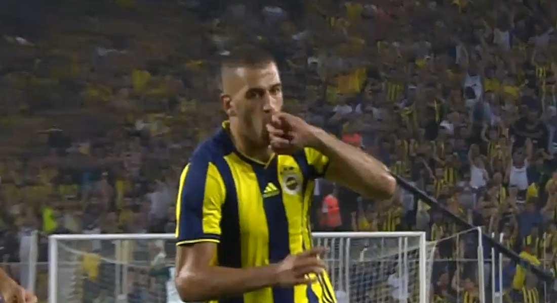 Islam Slimani ouvre son compteur buts avec le Fenerbahçe face au Keyserispor