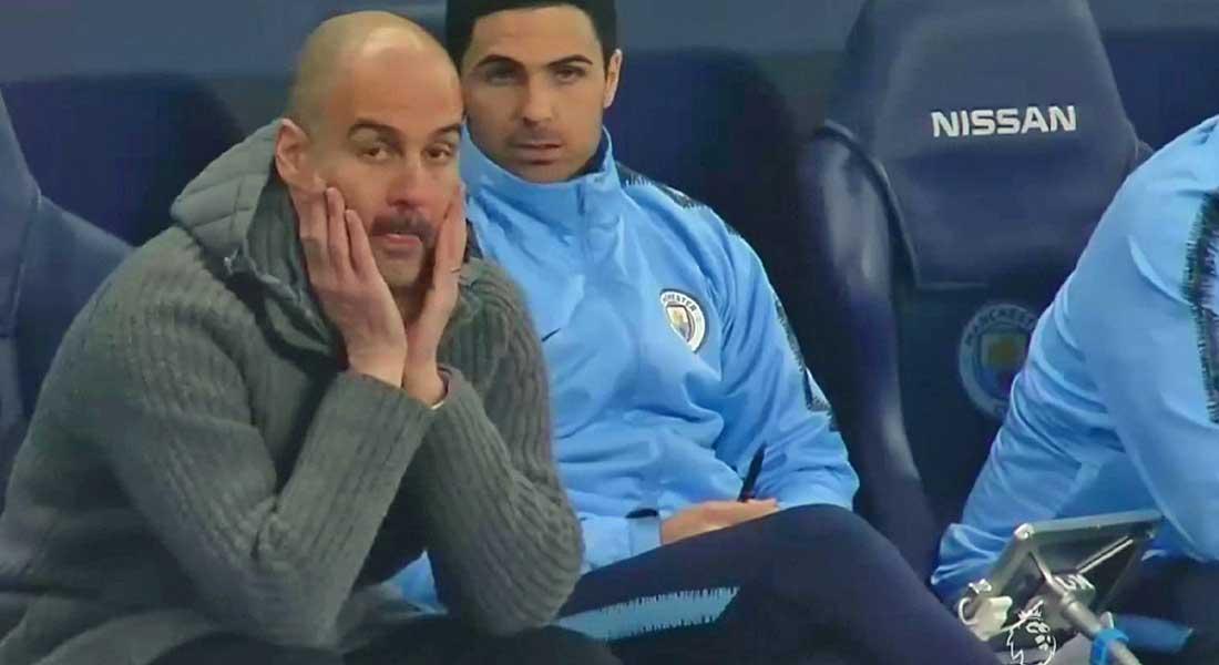 Manchester City : Riyad Mahrez remplacé par Pep Guardiola à la 55′ face à Westham, vidéo