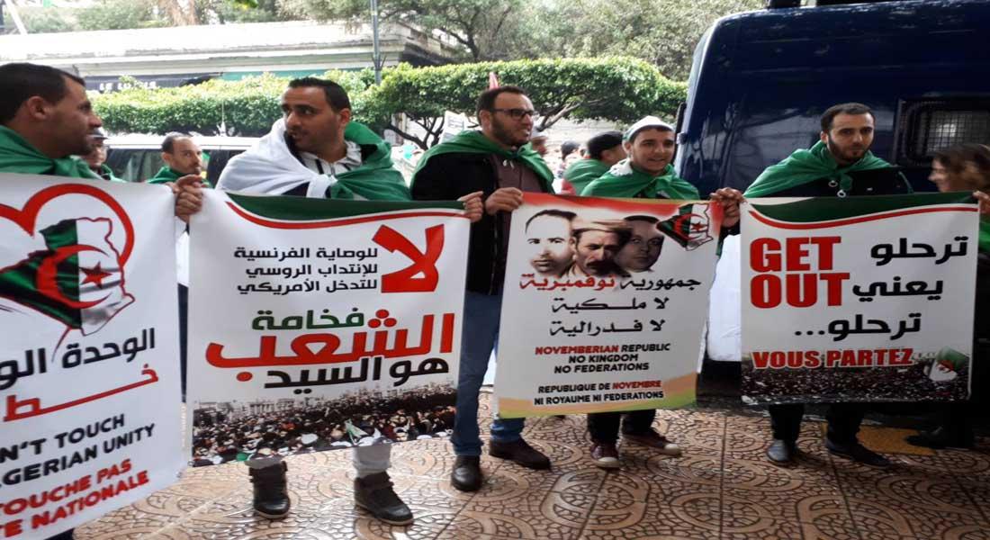 """5 eme vendredi de contestation des Algériens contre le """"système"""""""