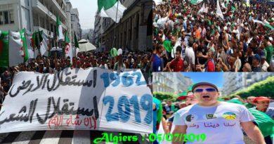 Independance day : Le peuple Algérien est sorti massivement pour demander la fin du système
