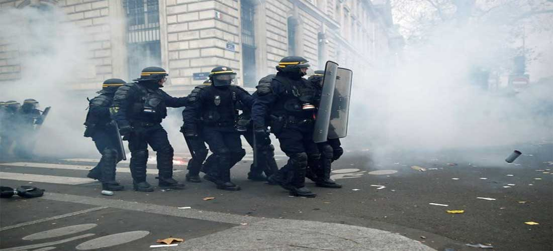 France : Incidents à Paris durant la manifestation contre la réforme des retraites