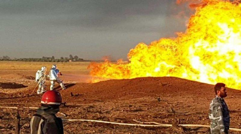 Incendie pétrole