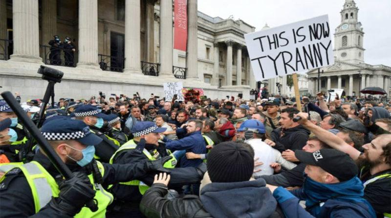 Manifestation covid londres