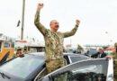 Le président azerbaïdjanais en visite en mode triomphateur au Nagorny Karabakh